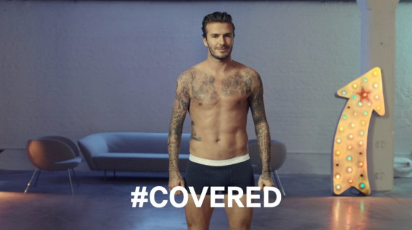Beckham's #covered H&M ad version