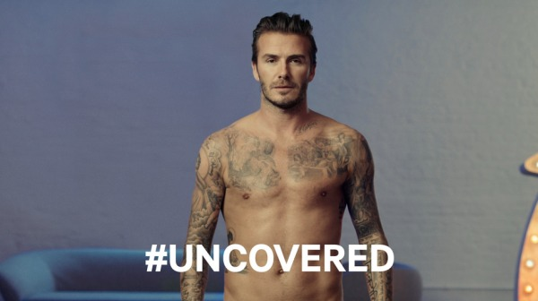 Beckham's #uncovered H&M SuperBowl ad
