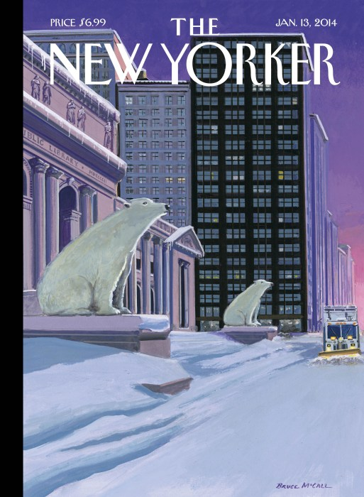 "Cover of the January 13th, 2014 edition of ""The New Yorker"" magazine"
