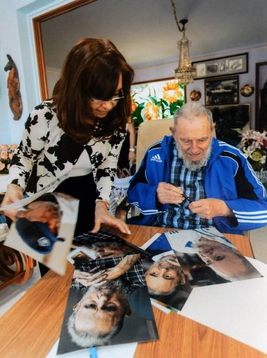 Image: Cristina Fernandez, Fidel Castro