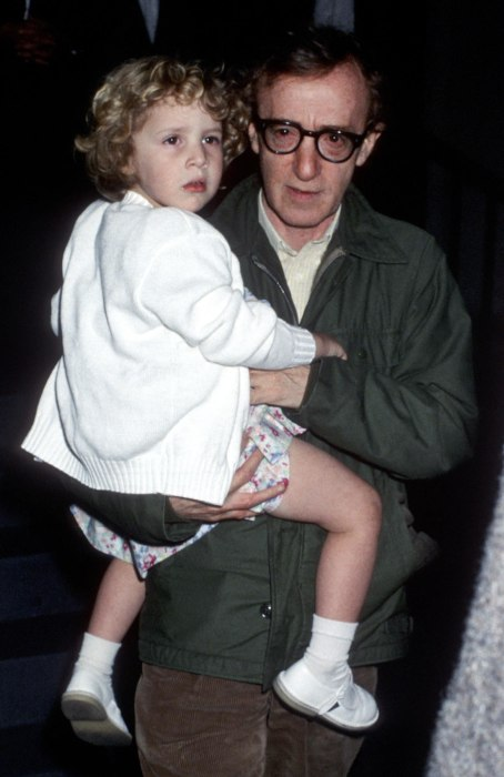 Image: Dylan Farrow and Woody Allen in 1989