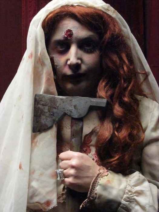 A not-so-blushing bride at Castle Blood in Monessen, Pa.
