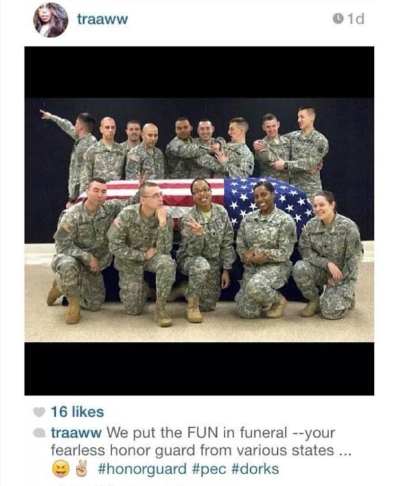 Image: Picture posted to an instagram accound of a member of the Wisconsin National Guard