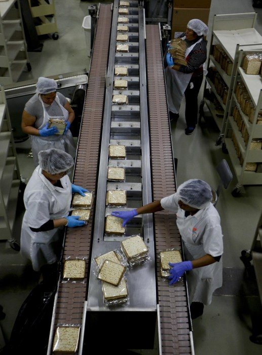 Image: Matzo Made At Manischewitz Manufacturing Plant