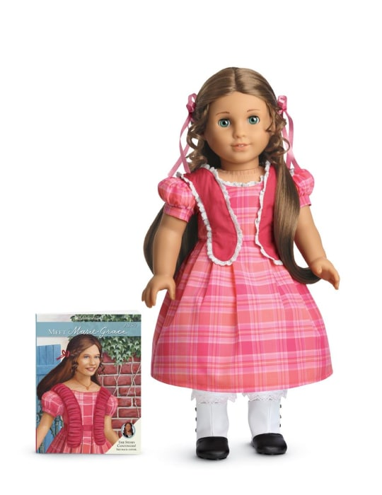 Marie-Grace, an American Girl doll whose story is set in 1850s New Orleans.