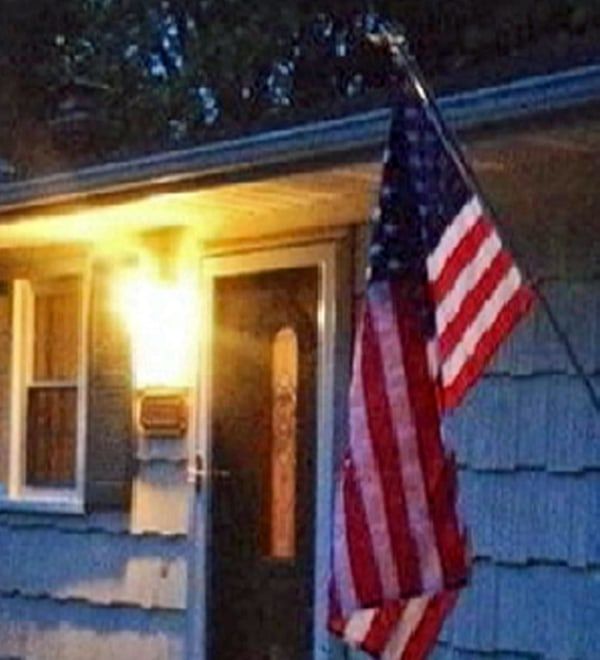 Image: An American flag that flew over the World Trade Center ruins and was given to the sister of a fallen firefighter has been returned after it was stolen last week.