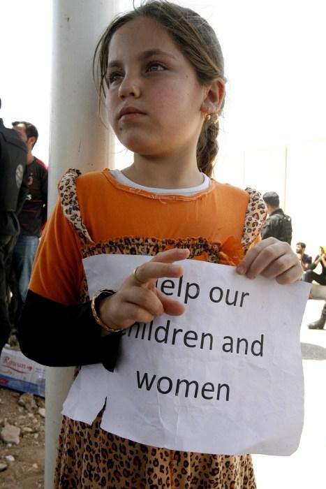 Image: Yezidis protest in Erbil