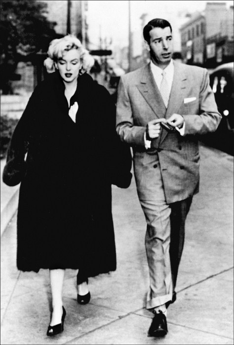 Picture dated 1954 showing actress Marilyn Monroe