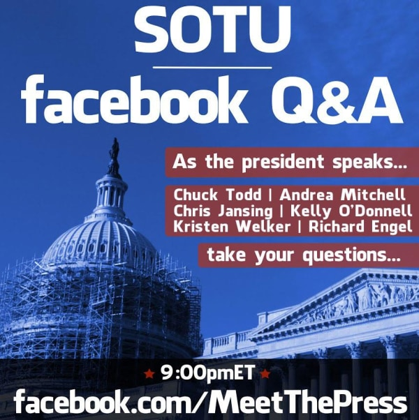 MTP Facebook Chat for the SOTU graphic