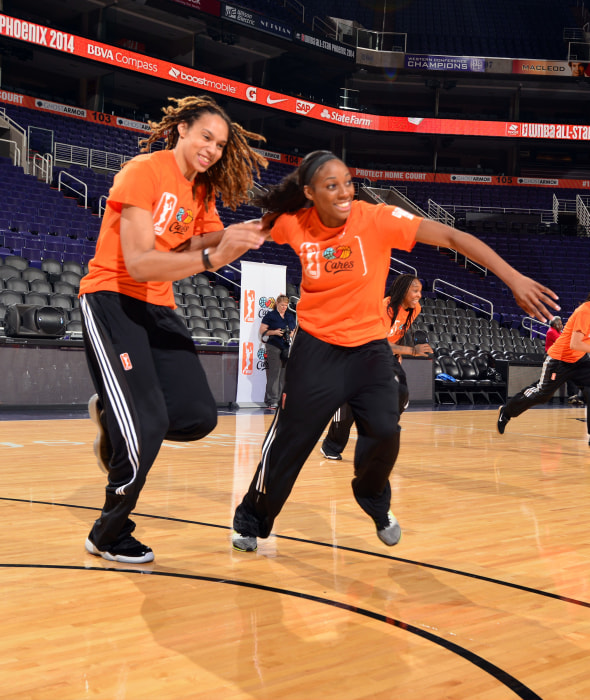 Image: WNBA Star Brittney Griner and Fiancee Glory Johnson