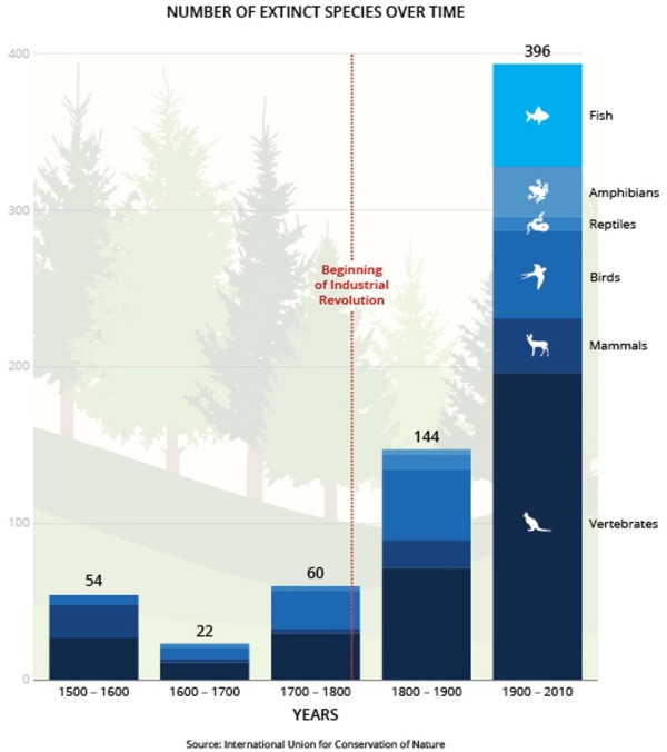 Image: IUCN extinction tally