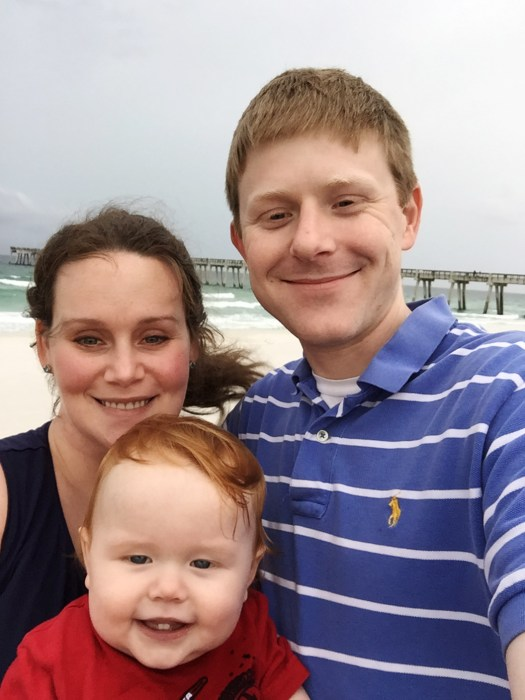 Image: Troy Goode, wife Kelli and son Ryan