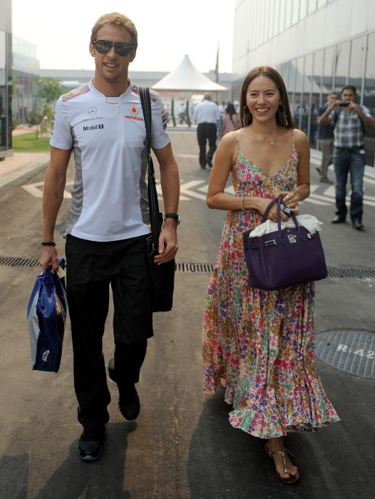 Image: Jenson Button and his now-wife wife Jessica