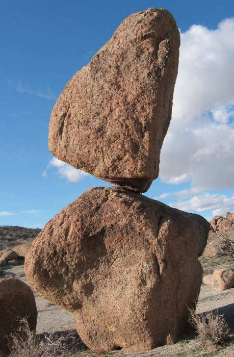 precariously balanced rock