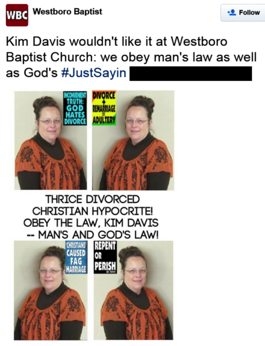 IMAGE: Westboro Baptist Church tweet