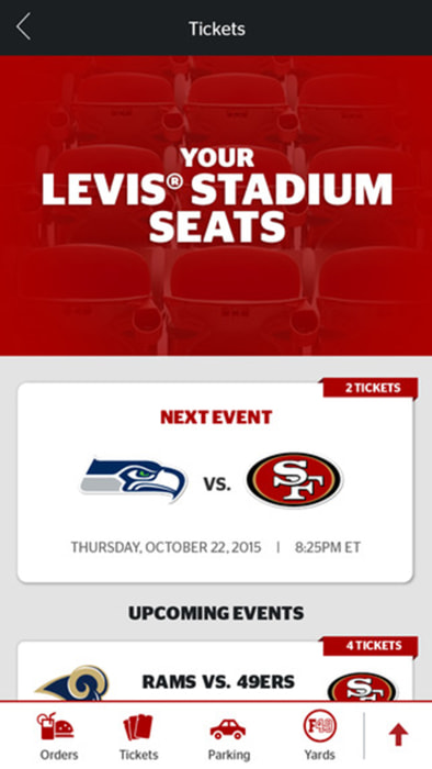 The Levi's Stadium mobile app.