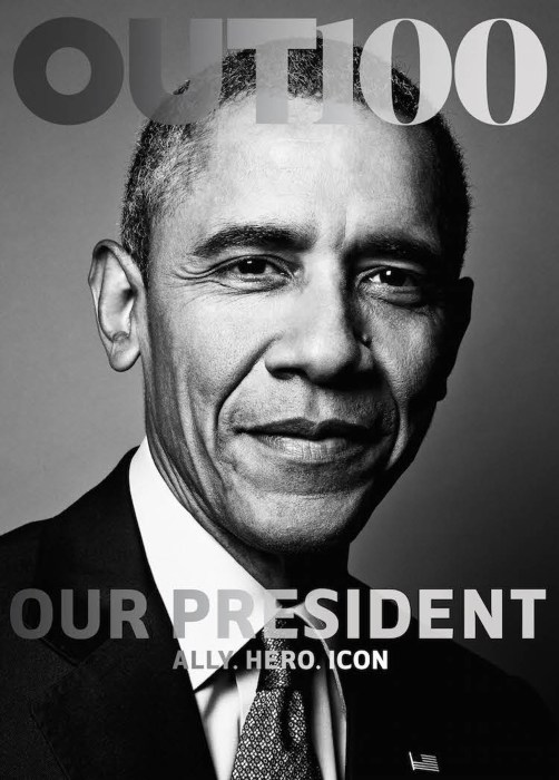 Image: President Barack Obama featured on the cover of OUT magazine.