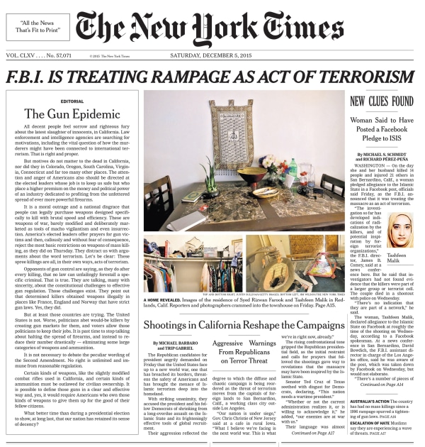 Image: NYT Editorial on Page One