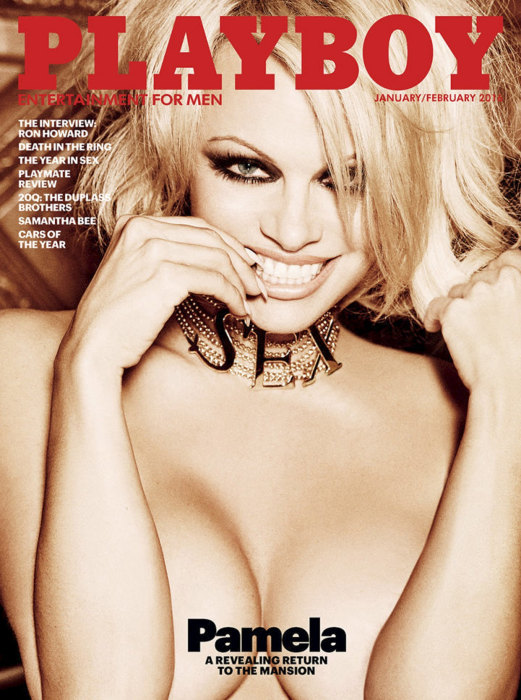 Image: Handout of Playboy magazine's January/February 2016 edition cover featuring Pamela Anderson