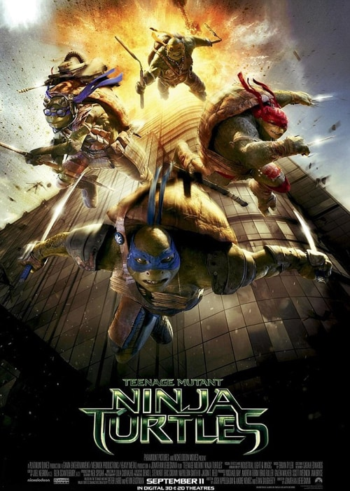 Image: Poster for the new Teenage Mutant Ninja Turtles movie.