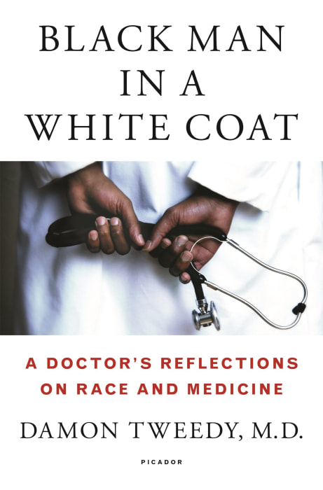 BLACK MAN IN A WHITE COAT, BY DAMON TWEEDY