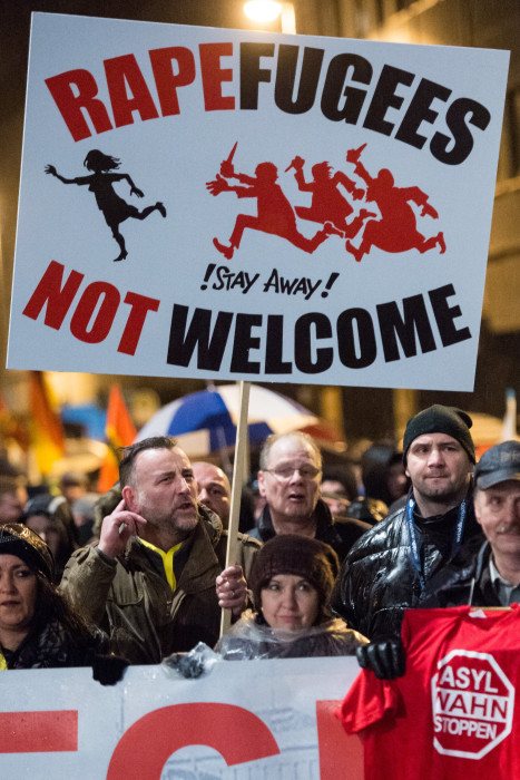 Image: Pegida march in Leipzig, Germany