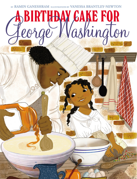 Image: The cover of 'A Birthday Cake for George Washington'