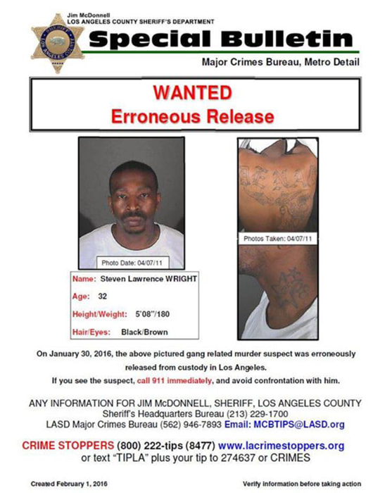 Image: A Wanted Poster for Steven Lawrence Wright