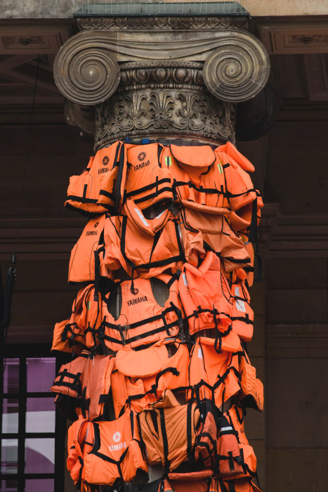 Image: Ai Weiwei Creates Art Installation From Refugee Life Vests
