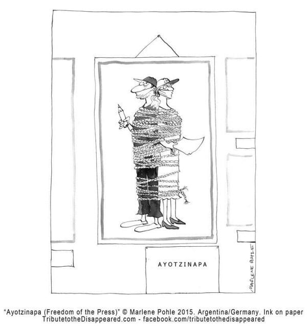 """""""Ayotzinapa (Freedom of the Press)"""" by Marlene Pohle"""