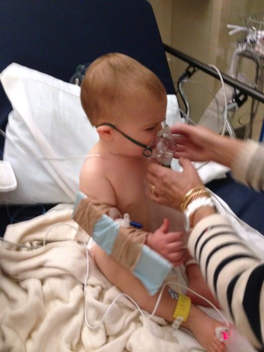Image: Parker wears an oxygen mask after the carbon monoxide incident