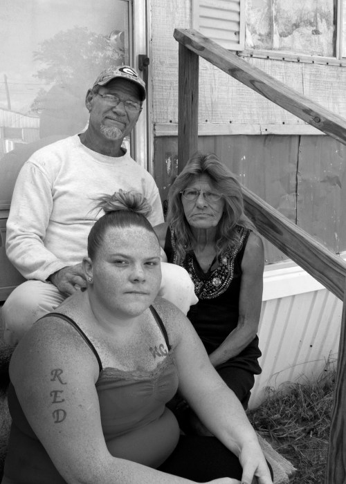 Image: James Hucks, 64, Kathleen Hucks, 57 and Nicole Hucks, 23.