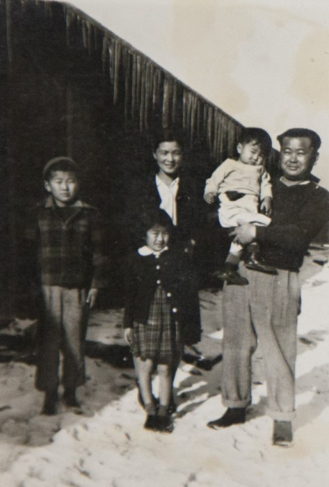 George Nakano with his family at Tule Lake