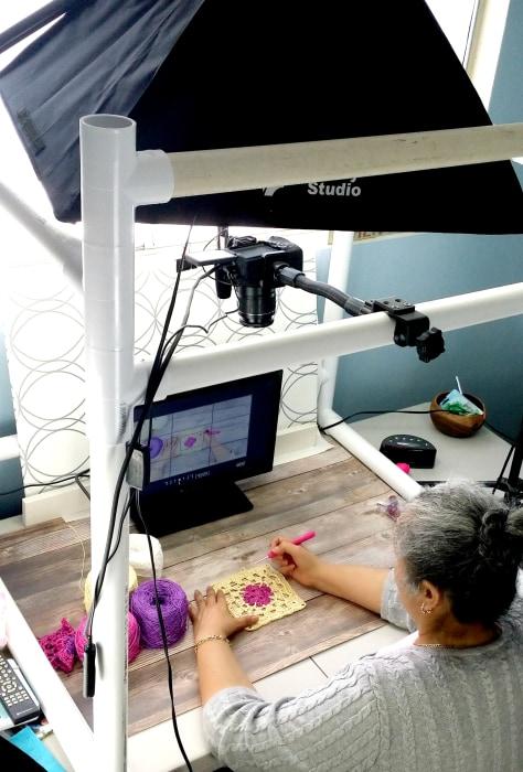 Yolanda Soto-Lopez at work on one of her videos.
