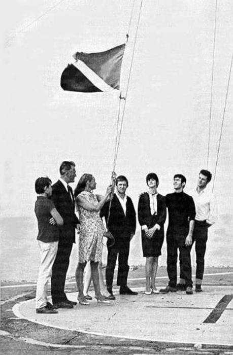 Image: Raising Sealand's flag