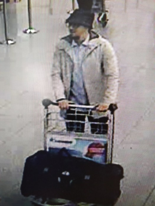 Image: Belgian authorities released this image of a suspect in the Brussels Airport attack.