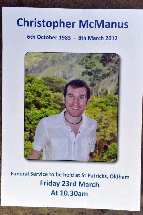 Image: Christopher McManus funeral