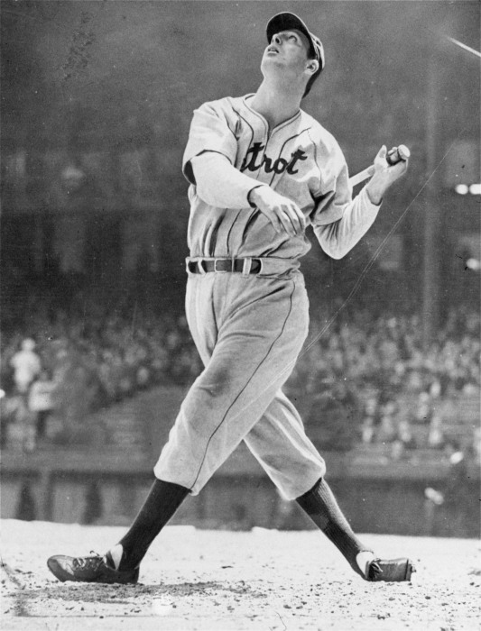 Hank Greenberg, Detroit Tigers outfielder.