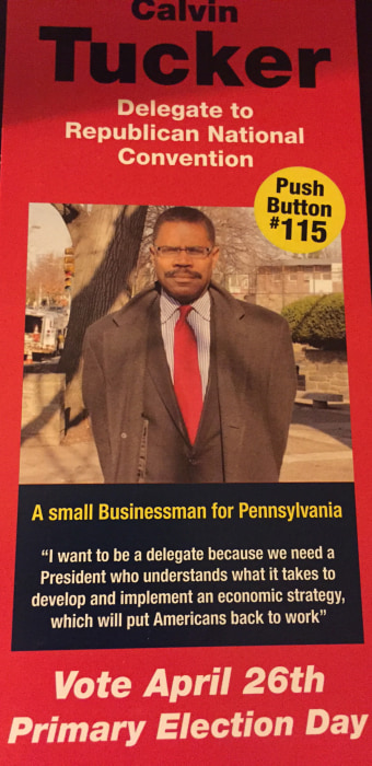 Image: A flyer for RNC delegate candidate Chris Tucker