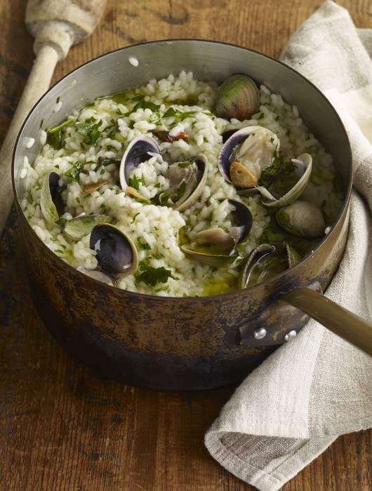 Rice with cockles recipe.