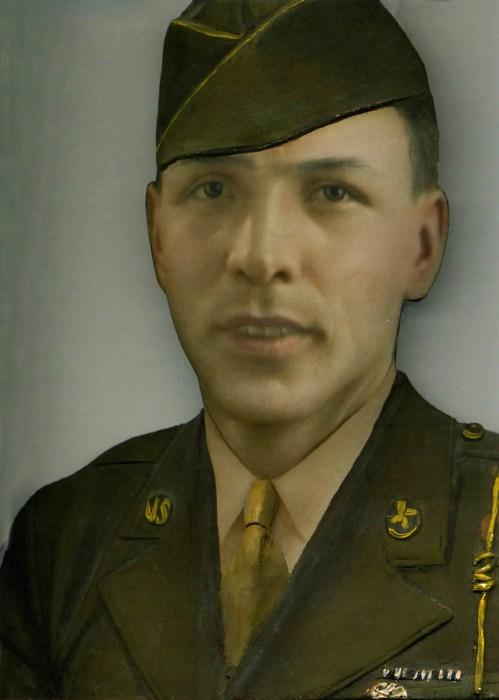 Retouched portrait of Juan M. Guzman.