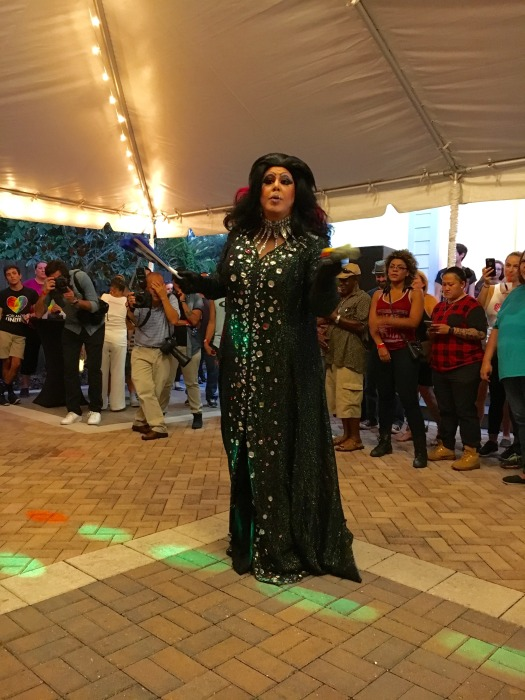 Performer at the Thornton Park District of Orlando raising money for Pulse.