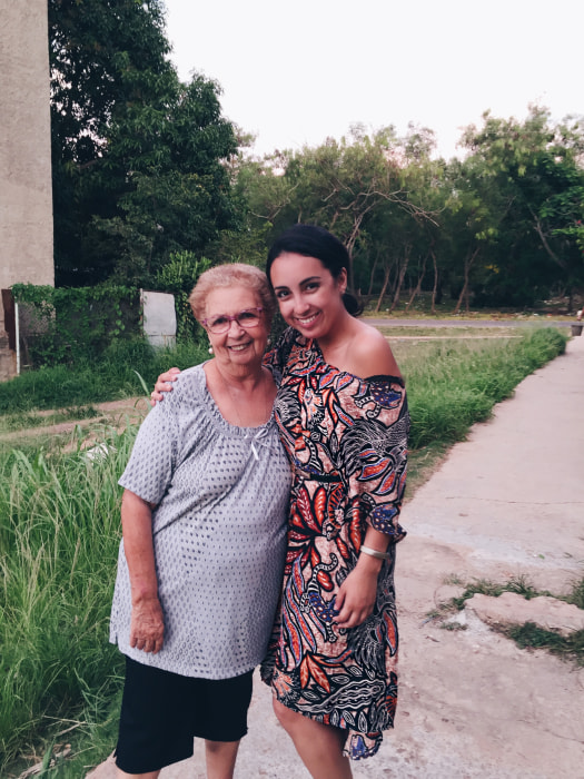 Lissette Calveiro (23, Miami) meets her grandmother in Cuba for the first time