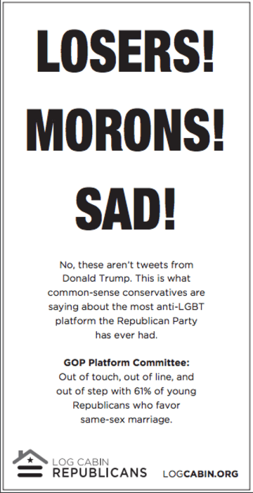 Log Cabin Republicans USA Today Advertisement