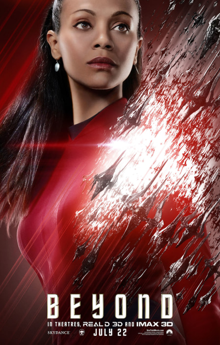 Zoe Saldana Star Trek Movie Poster
