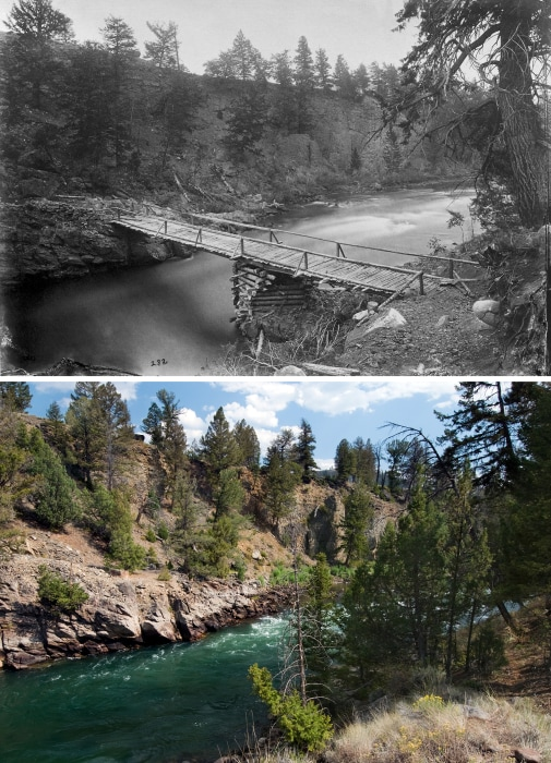 Image: The junction of East River with Yellowstone