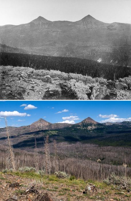 Image: Yellowstone's Mounts Doane and Stevenson