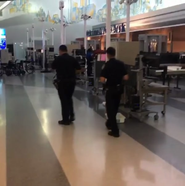IMAGE: JFK Airport security incident