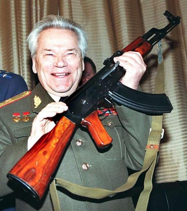Image: General Mikhail Kalashnikov on Feb. 20, 1997