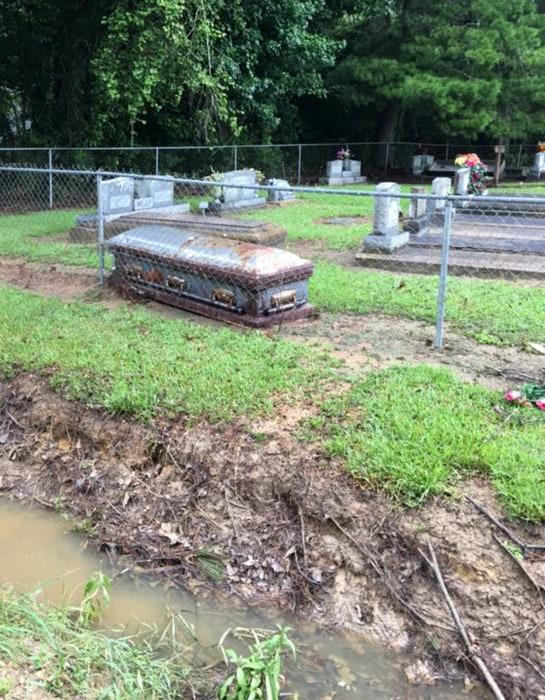 Image: Livingston Parish unearthed graves